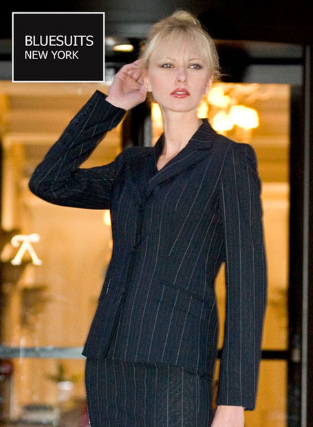 Bluesuits Three Button Business Suit for Pluse Size Women