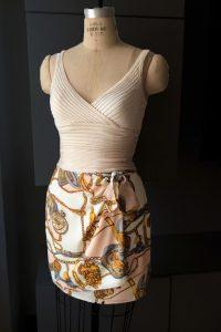 Bluesuits Beige Wrap Skirt