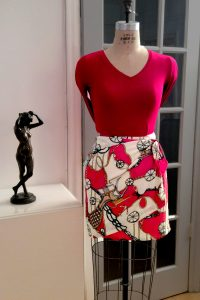 Bluesuits Red Washable Wrap Skirt
